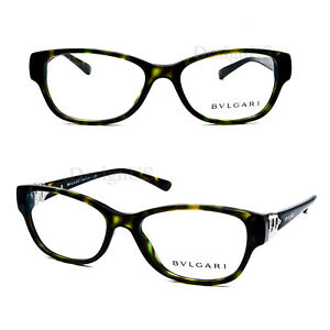 c83ae633ca BVLGARI 4078-B 504 Crystal Olive Tortoise 51/16/140 Eyeglasses Italy ...
