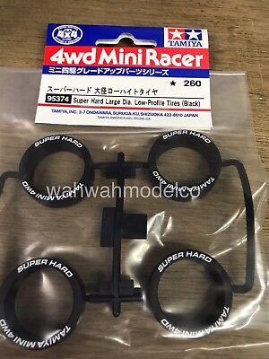 Tamiya 95374 1//32 Mini 4WD Parts Jr Super Hard Large Diameter Low-Profile Tires
