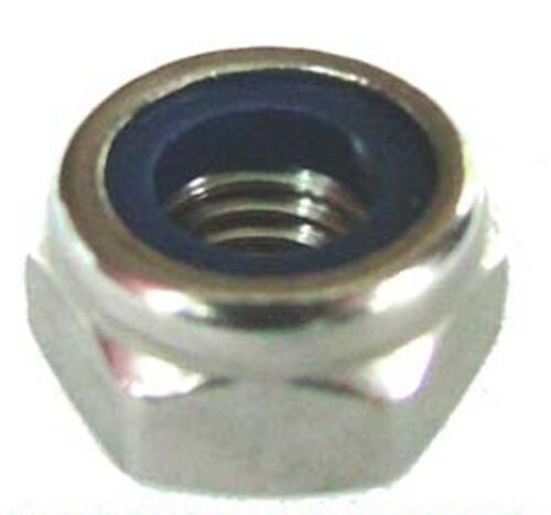 4mm,5mm,6mm,8mm,10mm Nyloc x250 M4,M5,M6,M8,M10 Stainless Nyloc Nuts