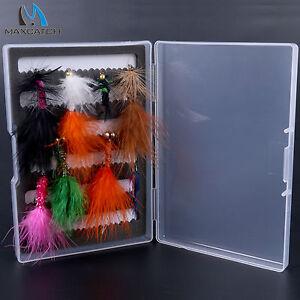 Nymph-Rainbow-Trout-Flies-2-6-8-Patterns-Assortment-Slit-Foam-Clear-Box
