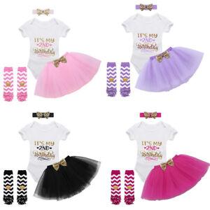 4pcs-Baby-Girls-Outfit-Set-Its-My-2nd-Birthday-Printed-Romper-Tutu-Skirt-Dress