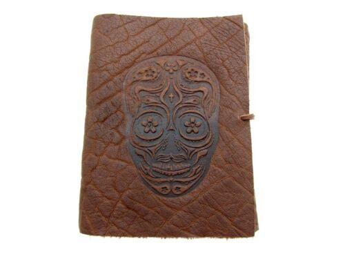 Tagebuch Notizbuch Büffelleder gm-in-tsk-002 Lederbuch Terra Skull II XXL