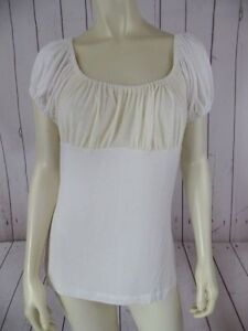 BCBG-Generation-Top-L-NEW-88-Ivory-Rayon-Spandex-Knit-Pullover-PEASANT-BOHO