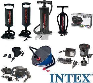 INTEX-Luftpumpe-Handpumpe-Elektrische-12V-230V-Pumpe-Fusspumpe-12-Varianten
