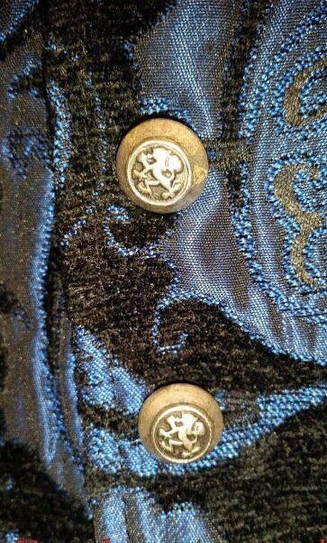 Tombeau Vampire Aristocrate Victorien Bleu Tapestry Gothique Veste sans Manche Vampire Tombeau ef047e