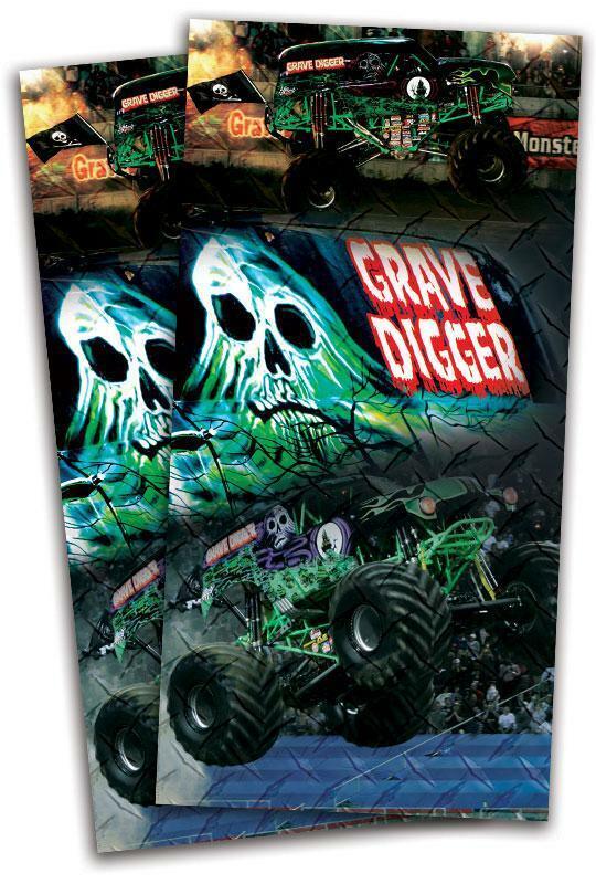 Grave Digger Cornhole Bag Toss  Wrap Set  sale