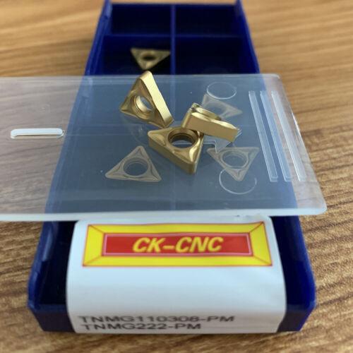 10pcs TNMG110308-PM TNMG222 carbide inserts lathe turning inserts for