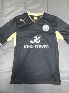 Men's Puma Leicester City 2012/2013 Away Kit Soccer Football Jersey Size M Black