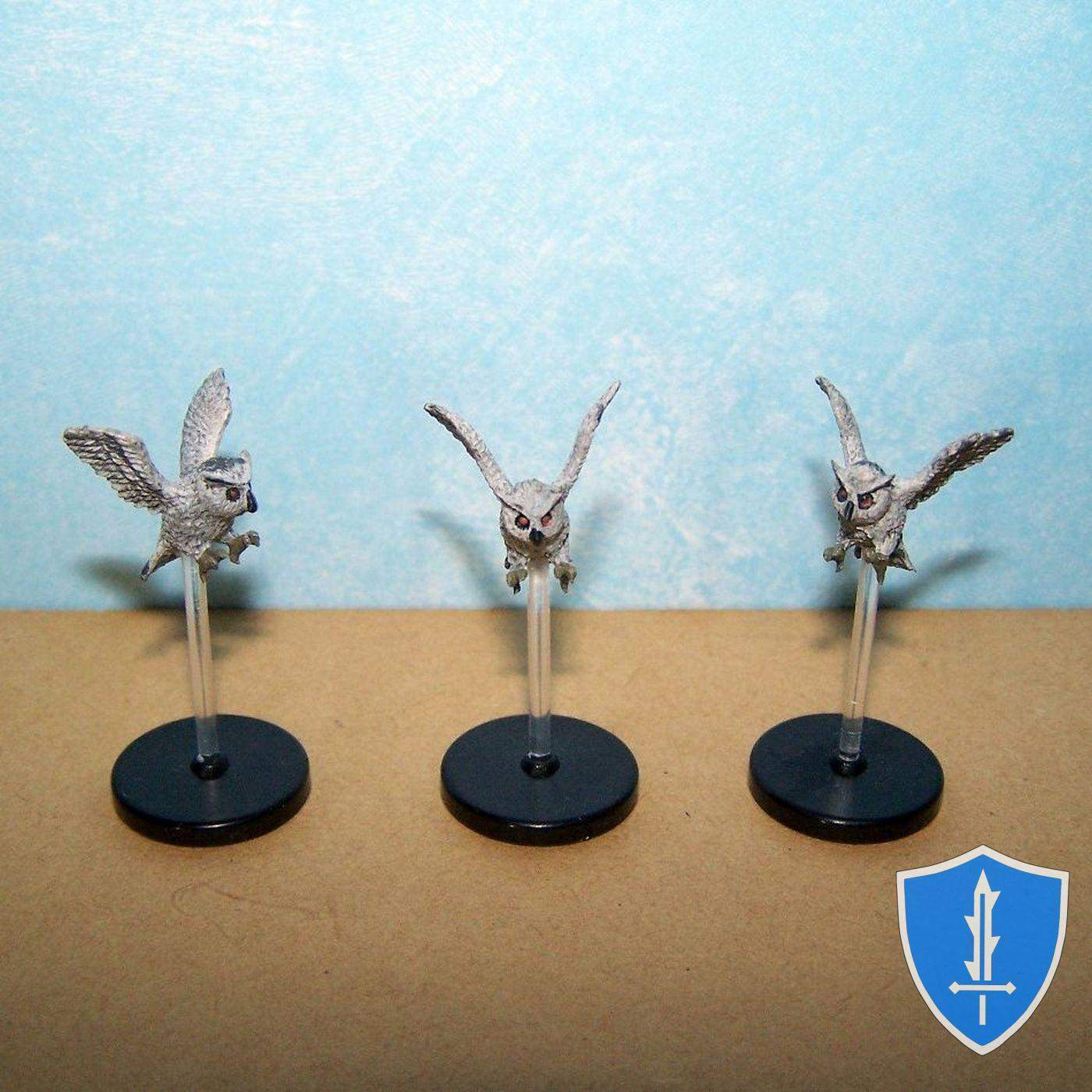 Owl x3 - Reign of Winter Pathfinder Battles D&D Miniature