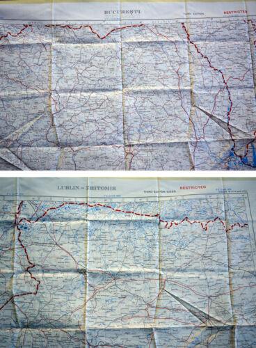 und Lublin 1:1.000.000 Rumänien Fliegerkarte Silk Map von Bucuresti Polen