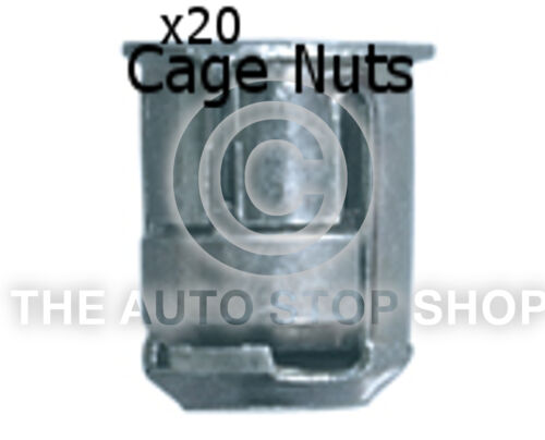 Cage Nut 6MM Drilling 10MM Thickness 1,5-5MM Renault Scala etc 253re 20PK