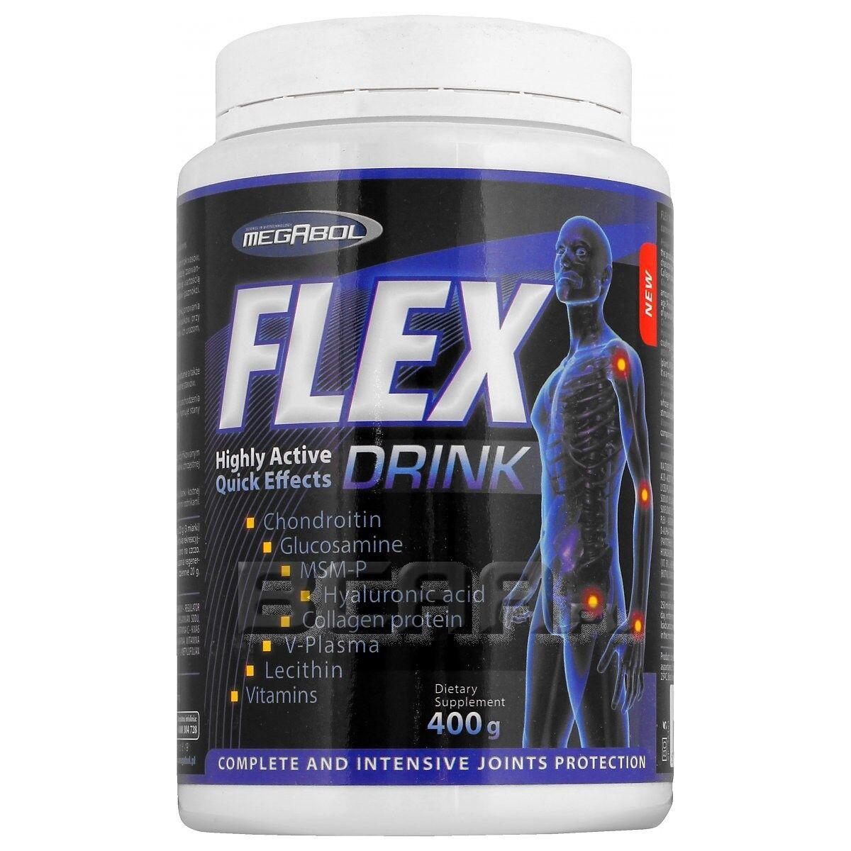 MEGABOL Flexit Drink 400g JOINTS & BONES SUPPORT, COLLAGEN HYDROLYZATE HYDROLYZATE HYDROLYZATE MSM, FLEX 26caff