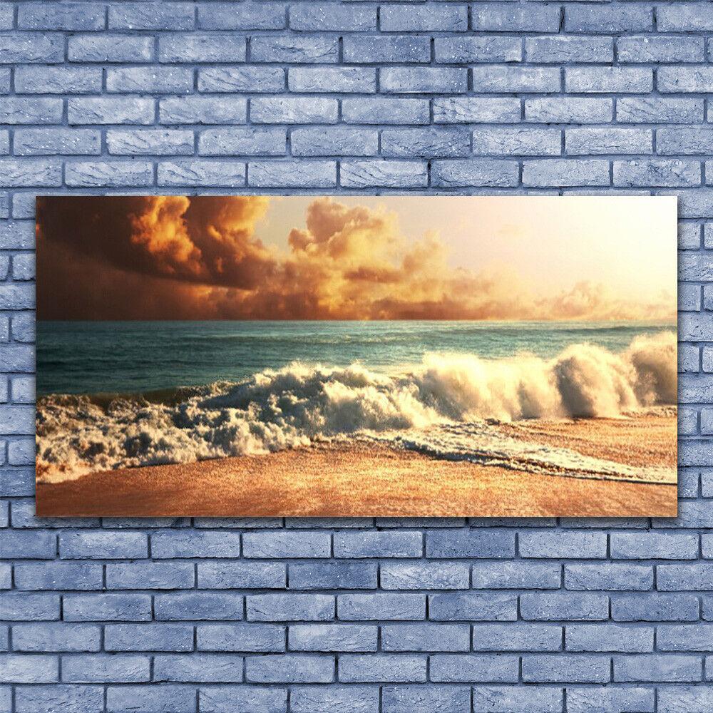Canvas print Wall art on 140x70 Image Picture Picture Picture Ocean Beach Landscape fde6ea
