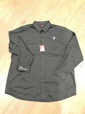 Nwt Bmw Dress Shirt Mens 3xl Lokg Sleeve Button Down Collar Charcoal Fremont Ca