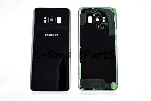 SAMSUNG-GALAXY-S8-amp-S8-BLACK-BATTERY-BACK-HOUSING-REPLACEMENT-WITH-CAMERA-LENS