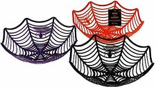 Assorted Colour Halloween Spiderweb Bowl Children Sweet Fruit Treats Party Fun
