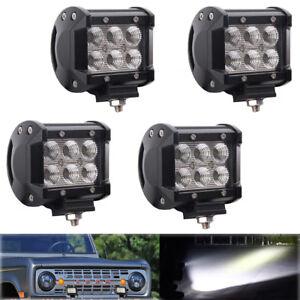 4-x-18W-LED-Spot-lumiere-auxiliaire-feux-de-travail-12v-24v-SUV-ATV-JEEP-Licht