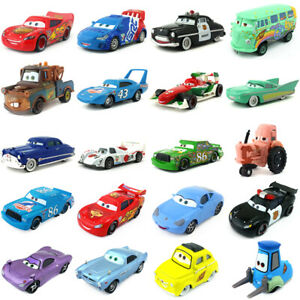 Disney Pixar Cars McQueen Mater King Sally Frank 1:55 Model Toy Car Boys Gift