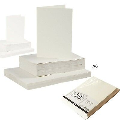 A6 GREETING ART CARFT CARD 50 OFF-WHITE BLANK CARDS AND ENVELOPES CARD MAKING