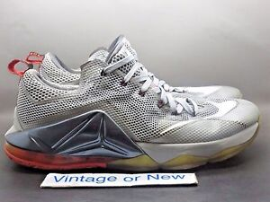 4d87cdd1cc759 Image is loading Nike-LeBron-XII-12-Low-Wolf-Grey-White-