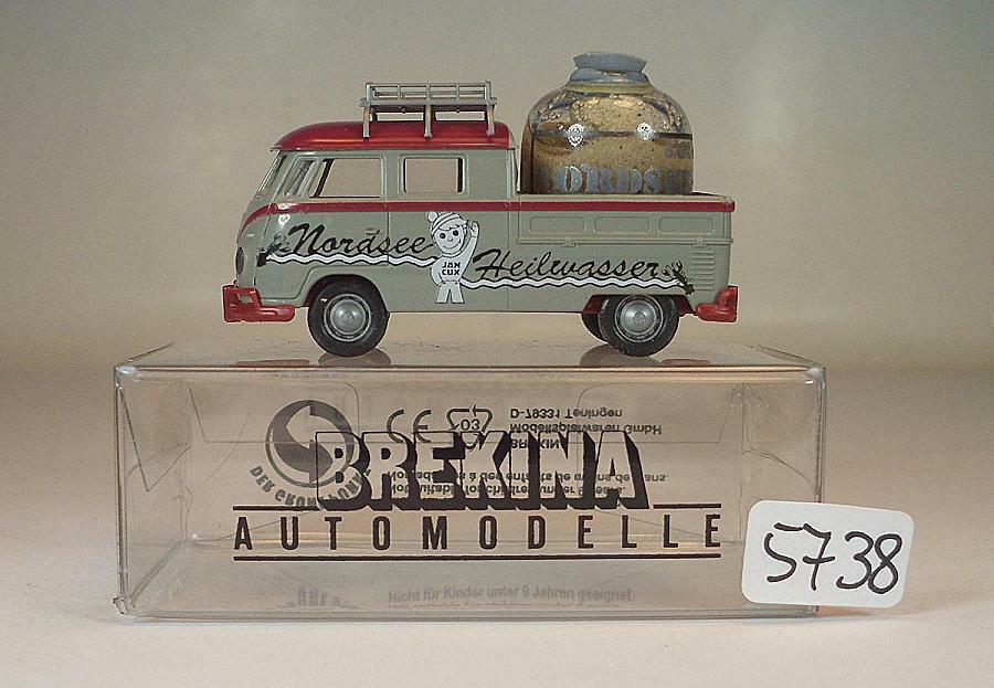 Brekina 1 87 no 681 VW T1b Bulli acque curative del Mare del Nord specialee modello in scatola355738