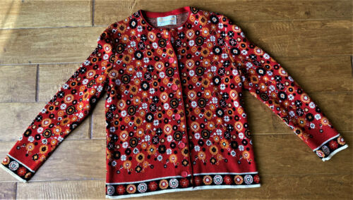 Vintage 1960's Catalina Jacquard Cardigan Sweater