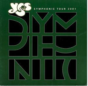 YES-2001-SYMPHONIC-TOUR-CONCERT-PROGRAM-BOOK-BOOKLET-JON-ANDERSON-VG-2-EX