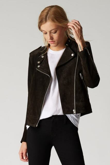 6c6f7ceeb8 NWT $198 Women's BlankNYC Real Suede Biker Jacket- Dark Chocolate - Medium