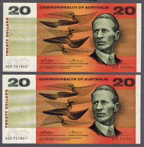 Commonwealth-of-Australia-1972-Phillips-Wheeler-20-Consecutive-Pair-NOTES-aUNC