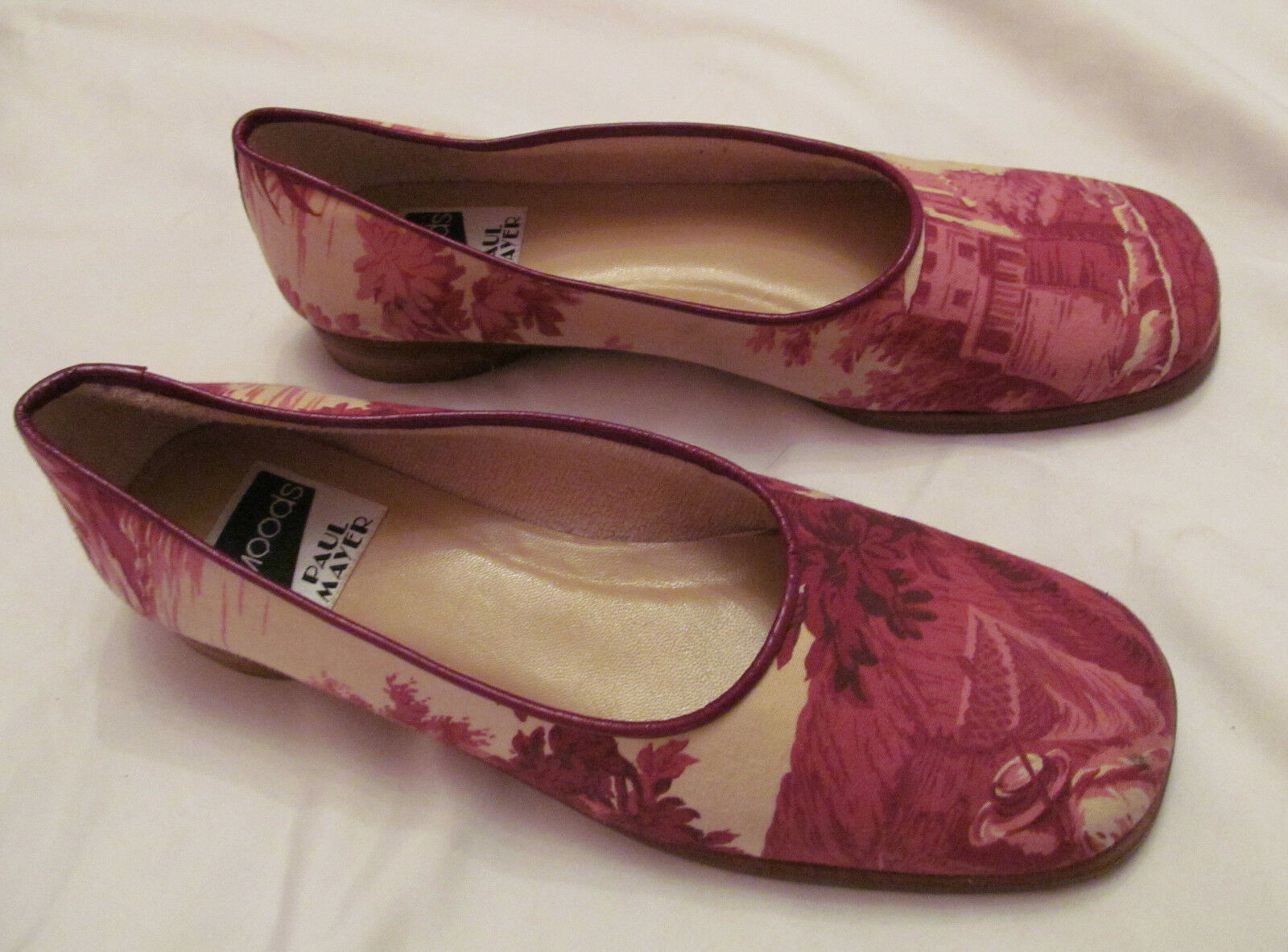 PAUL MAYER MOODS canvas shepard country sheep trees scene print loafers schuhe 9