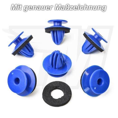 10x innenverkleidungs clips de fijación con sellado para audi8u0853909