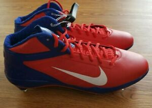 Details about NIKE Air Zoom Alpha Talon TD Royal Blue Red Molded Football Cleats NEW Mens 14