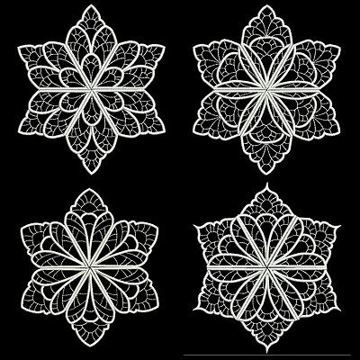 HEAVENLY WHITE SNOWFLAKES- 36 MACHINE EMBROIDERY DESIGNS (AZEB)