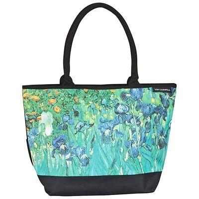 Umhänge Tasche Bag Shopper bunt Blumen Kunst Maler Vincent van Gogh Iris 4153