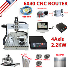 6040 Cnc 22kw 4axis Router Frame Mach3usb Engraving Cutting Drilling Machine Us