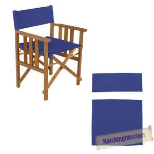 Blue Directeur Chaises Remplacement Polyuréthane Enduit Toile Couvre Jardin-afficher Le Titre D'origine