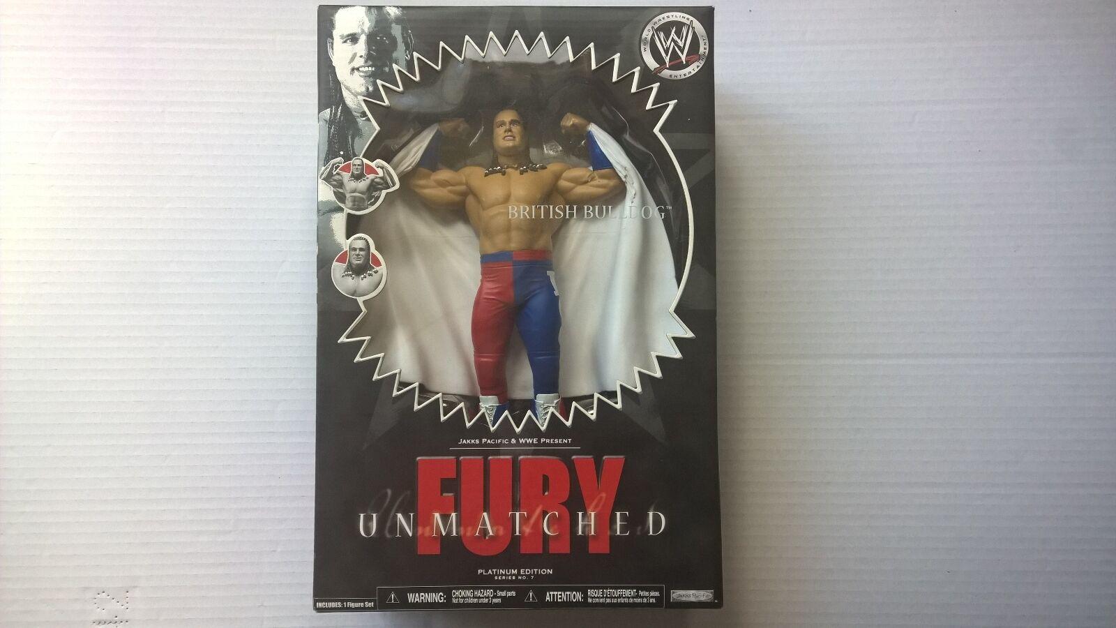 Wwe figure, british bulldog. fury unmatched. series 7. only . brand new.