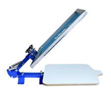 1 Color Screen Printing Press Printer Simple Silk Screen Diy Table Us New