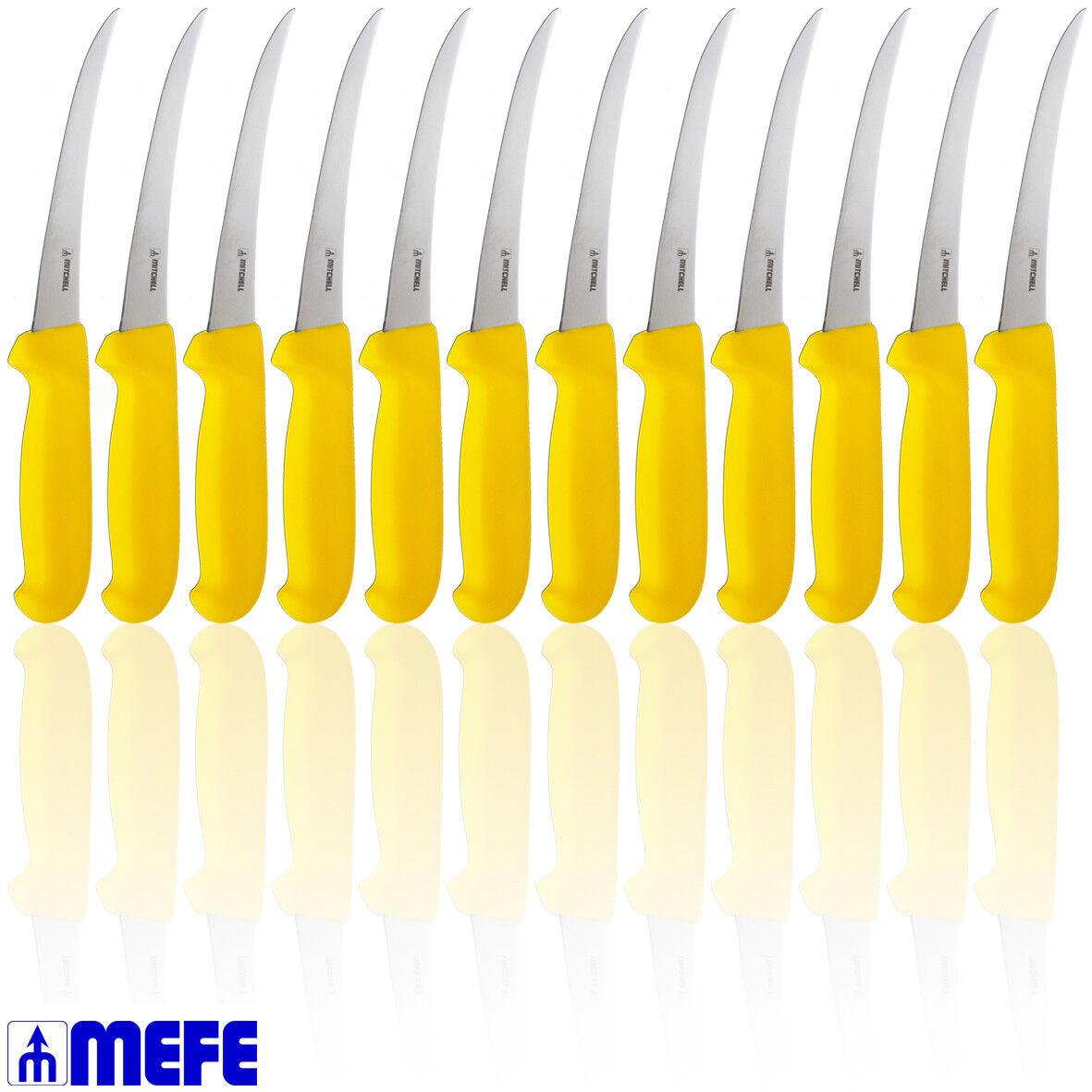 Flexible Curved Boning Knife 6  - Gelb Fibrox - Box of 12 (CAT 1376FFLY x 12)