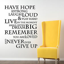 Have Hope Inspirational Wall Stickers Quotes, Wall Decals, Wall Art, Graphics