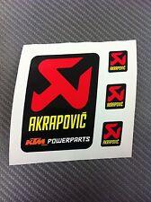 Akrapovic Auspuff Aufkleber Hitzebeständig für Endkappen 60mm