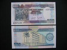 BURUNDI  500 Francs 2009  (P45a)  UNC