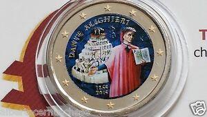 2-euro-2015-Italia-fdc-color-farbe-couleur-italie-italien-italy-Dante-Alighieri