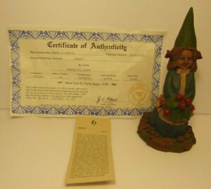 RETIRED-OLD-VINTAGE-1991-TOM-CLARK-GNOME-HOLLY-CHRISTMAS-GIRL-STATUE-FIGURE-5174