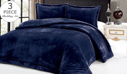 Down Alternative Supreme Plush 3 Piece Comforter Blanket Full Queen Set
