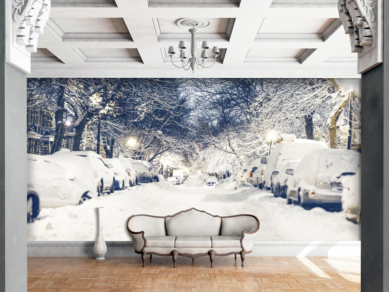 3D Neige Voler 7 Photo Papier Peint en Autocollant Murale Plafond Chambre Art