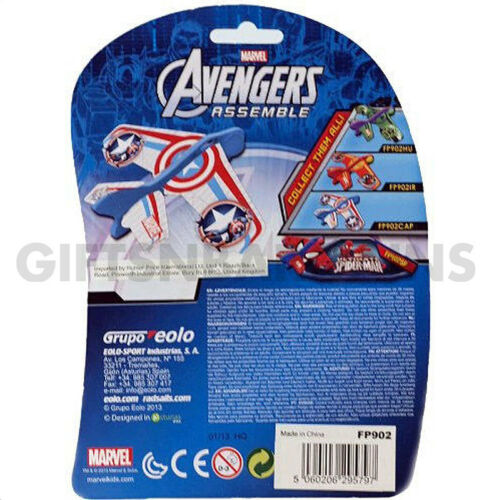 Marvel Avengers Foam Planes Flying Toy+Launchers Captain America Iron Man Hulk