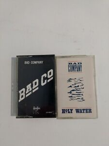 Bad Company, Cassettes Lot Of 2, Holy Water and Bad Co.