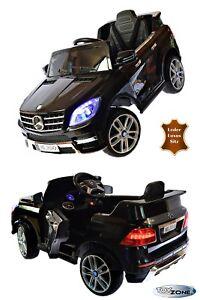 Kinderauto-Mercedes-ML350-4Matic-12V-MP3-EVA-Ledersitz-Elektrofahrzeug-NEU2019
