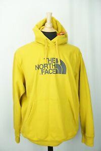 The North Face Half Dome Hoodie Leopard Yellow Mens Sweatshirt Sz XL NEW